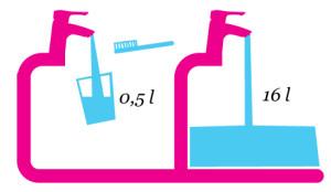 Mycie zębów pod bieżącą wodą
