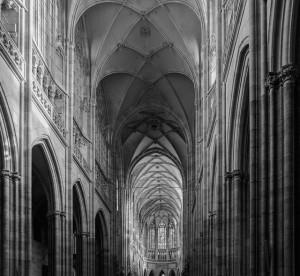Wnętrze praskiej katedry