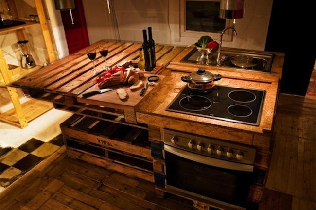 kuchnia i europalety