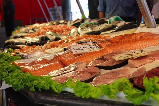 Stoisko z rybami