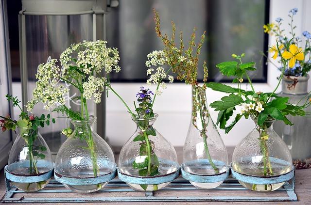 dzbanuszki z kwiatkami