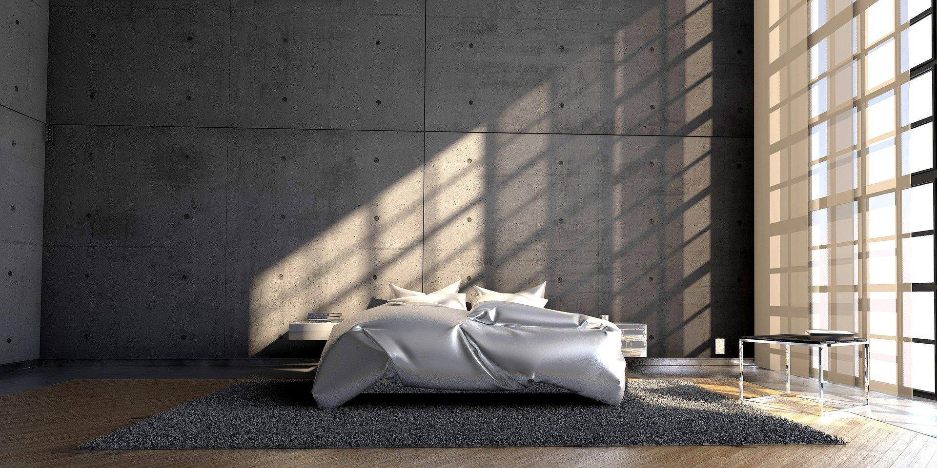 samodzielnie zrobione łóżko z palet